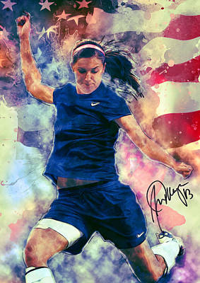 Alex Morgan Poster by Taylan Soyturk