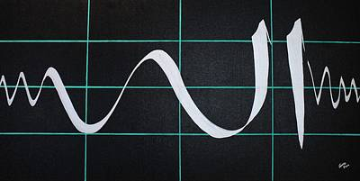 Divine Name In Cardiograph Poster by Faraz Khan