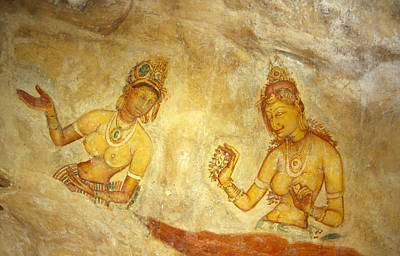 Ancient Cave Wall Paintings Depicting Poster by Jason Edwards