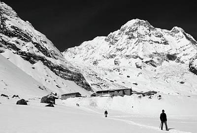 Annapurna South And Base Camp Poster by Aidan Moran