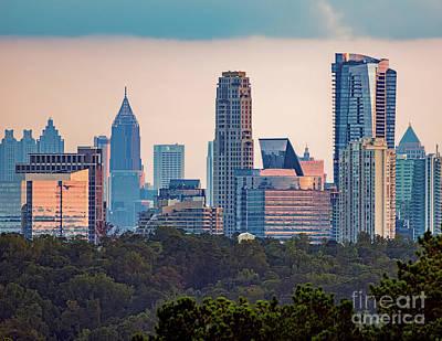 Atlanta Skyline Poster by Doug Sturgess