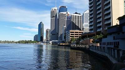 Australia - Brisbane River Boardwalk Poster by Jeffrey Shaw