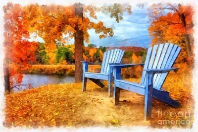 Autumn Splendor Watercolor Poster by Edward Fielding