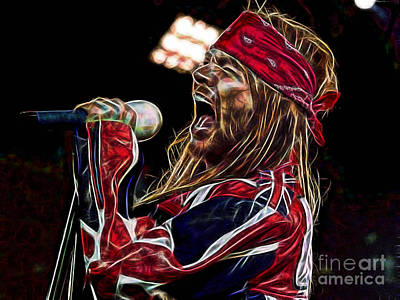 Axl Rose Collection Poster by Marvin Blaine