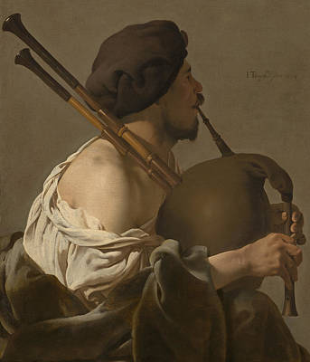 Bagpipe Player Poster by Hendrick Ter Brugghen