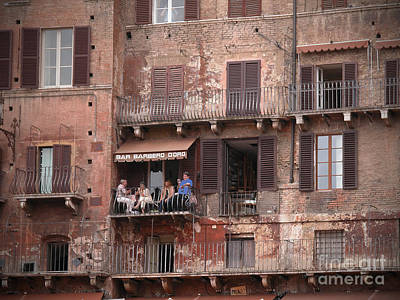 Balcony Bar Siena Poster by Jim Wright