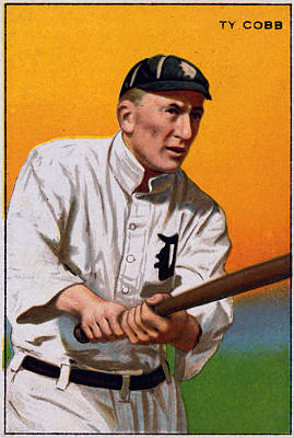 Baseball. Ty Cobb Baseball Card Poster by Everett