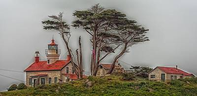 Battery Point Lighthouse - California Poster by Mountain Dreams