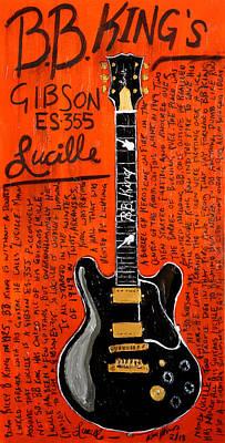 Bb King Lucille Gibson Poster by Karl Haglund