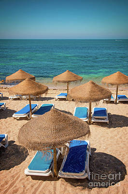 Beach Scene Poster by Carlos Caetano