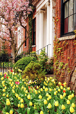 Beacon Hill Spring Poster by James Kirkikis