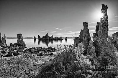 Beautiful View Of The Strange Tufa Towers Of Mono Lake. Poster by Jamie Pham