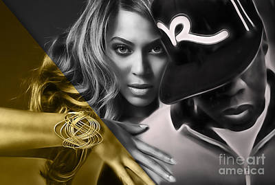 Beyonce Jay Z Collection Poster by Marvin Blaine