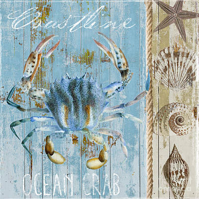 Blue Claw Crab  Poster by Mindy Sommers