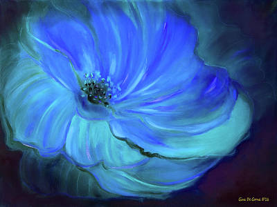 Blue  Flower Poster by Gina De Gorna