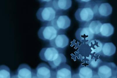 Blue Snowflake Poster by Jouko Mikkola
