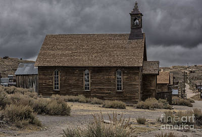 Stormy Day In Bodie State Historic Park Poster by Sandra Bronstein