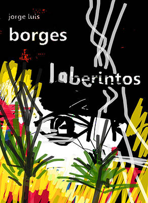 Borges' Labyrinths Poster Poster by Paul Sutcliffe