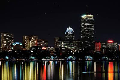Boston Skyline Poster by Girardi Santiago