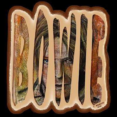 Bowie Poster by Tricia Winwood