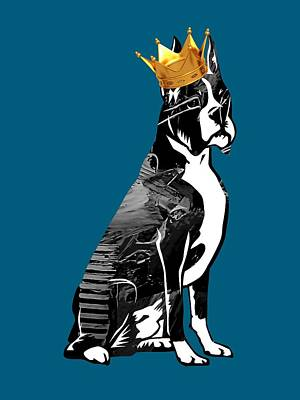 Boxer With Crown Collection Poster by Marvin Blaine