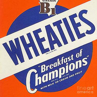 Breakfast Cereal Wheaties Breakfast Of Champions Pop Art Nostalgia 20160215 Square Poster by Wingsdomain Art and Photography