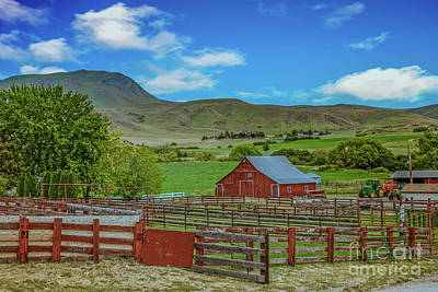 Butte Ranch Poster by Robert Bales