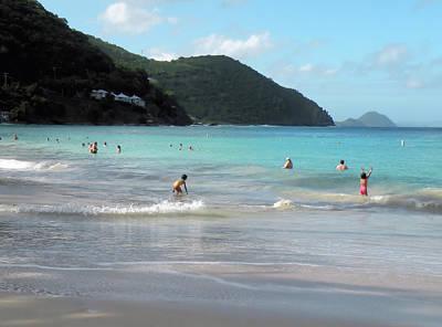 Caribbean Beach Scenic Poster by Rosalie Scanlon