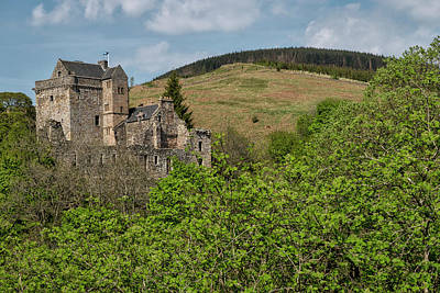 Castle Campbell In Central Scotland Poster by Jeremy Lavender Photography