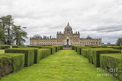 Castle Howard With Fountain Poster by Patricia Hofmeester