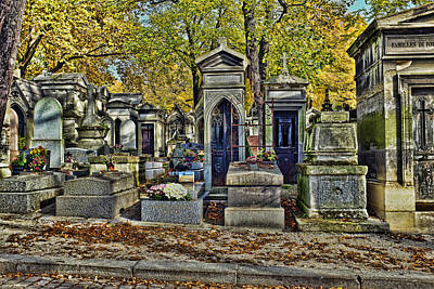 Cemeterie Pere Lachaise Poster by Hugh Smith