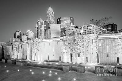 Charlotte At Night Black And White Photo Poster by Paul Velgos