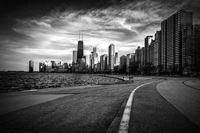 Chicago From North Avenue Beach Poster by Mike Burgquist