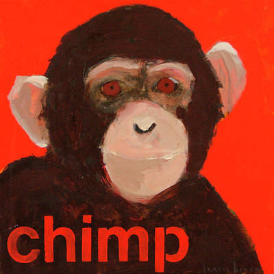 Chimpanzee Poster by Laurie Breen