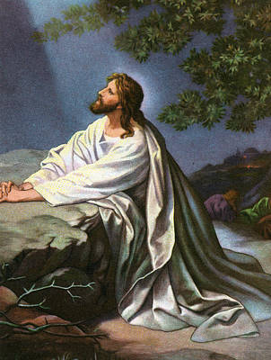 Christ In The Garden Of Gethsemane Poster by Heinrich Hofmann