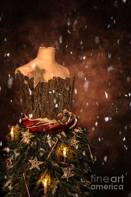 Christmas Mannequin Poster by Amanda Elwell
