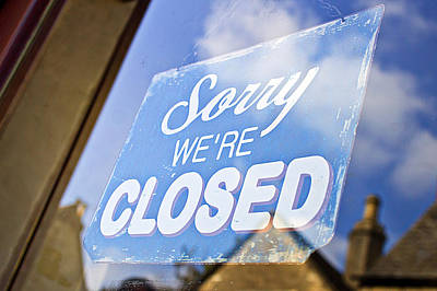 Closed Sign Poster by Tom Gowanlock