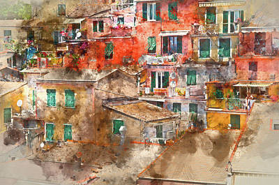 Colorful Homes In Cinque Terre Italy Poster by Brandon Bourdages