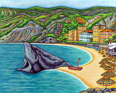Colours Of Monterosso Poster by Lisa  Lorenz