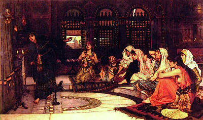 Consulting The Oracle Poster by John William Waterhouse