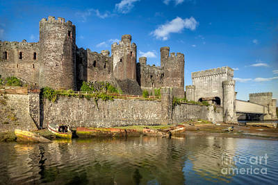 Conwy Castle Poster by Adrian Evans