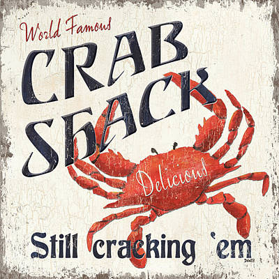 Crab Shack Poster by Debbie DeWitt