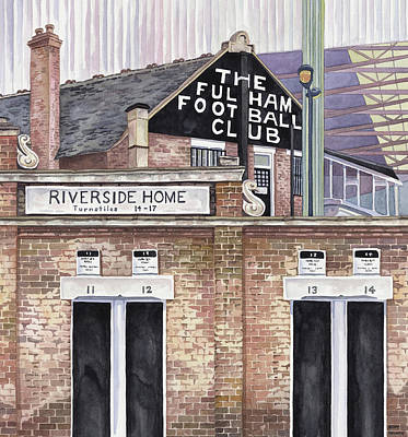 Craven Cottage Poster by Scott Nelson