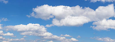 Cumulus Clouds In The Blue Sky Poster by Panoramic Images
