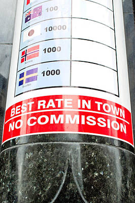 Currency Exchange Poster by Tom Gowanlock