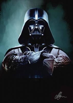 Darth Vader Star Wars  Poster by Michael Greenaway