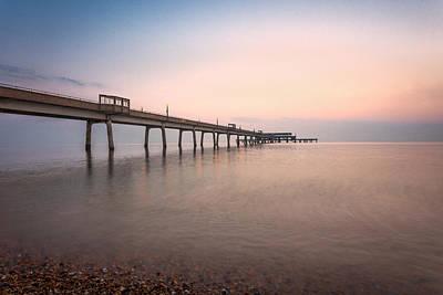 Deal Pier Sunrise Poster by Ian Hufton