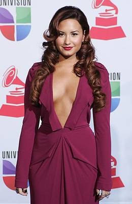 Demi Lovato Wearing A Roland Mouret Poster by Everett