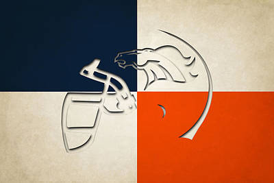 Denver Broncos Helmet Poster by Joe Hamilton