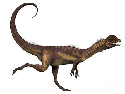 Dilophosaurus Dinosaur Poster by Corey Ford